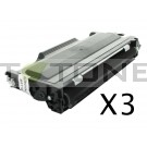 Brother TN2000 - Pack de 3 cartouches de toner compatibles