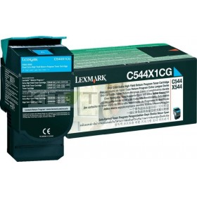 Lexmark 0C544X1CG - Cartouche toner cyan d'origine xxl