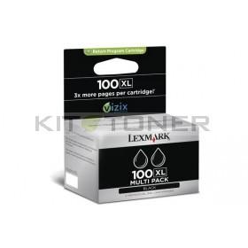Lexmark 14N0848 - Pack de 2 cartouches d'encre noire de marque