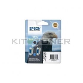 Epson C13T007402 - Pack combo de 2 cartouches d'encre noire de marque T007402