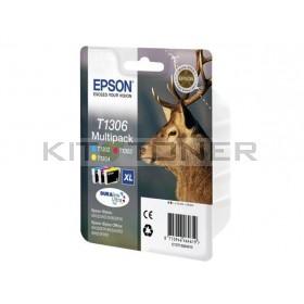 Epson C13T13044010 - Pack de 3 cartouches d'encre Durabrite XL T1304