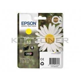 Epson C13T18044010 - Cartouche d'encre jaune de marque T1804