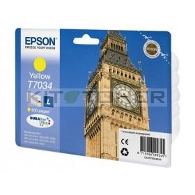 Epson C13T70344010 - Cartouche d'encre jaune Epson T7034