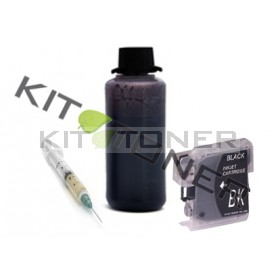 Brother LC980BK - Kit cartouche rechargeable compatible noire