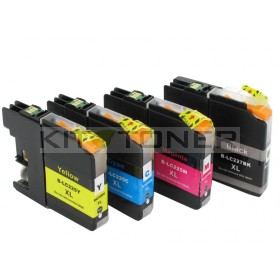 Brother LC227XLBK, LC225XLC, LC225XLM, LC225XLY - Pack de 4 cartouches encre compatibles xl