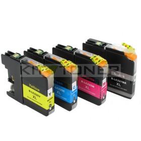 Brother LC227XLBK, LC225XLC, LC225XLM, LC225XLY - Pack de 4 cartouches encre compatibles xl