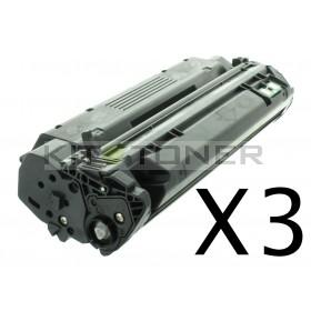 HP Q2613X - Pack de 3 cartouches de toner compatibles 13X