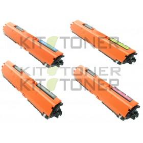 HP CE310A, CE313A, CE312A, CE311A - Pack de 4 toners compatibles 4 couleurs 126A