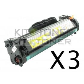 HP CE285A - Pack de 3 cartouches de toner compatibles 85A