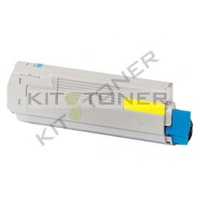 Oki 43872305 - Cartouche toner compatible Jaune