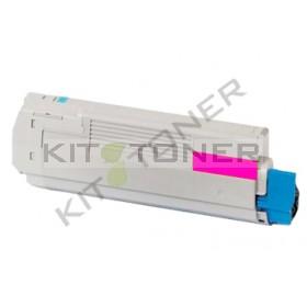 Oki 43865722 - Cartouche toner compatible Magenta