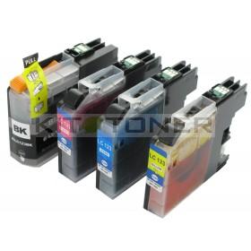 Brother LC123VALBP - Pack de 4 cartouches d'encre compatibles