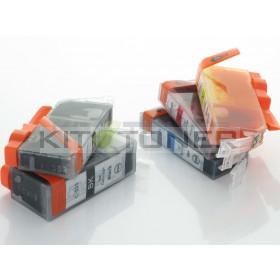 Canon PGI525, CLI526BK, CLI526C, CLI526Y, CLI526M - Pack de 5 cartouches encre compatibles