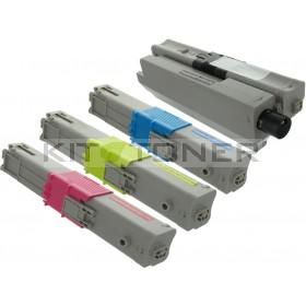 Oki 44973533, 44973535, 44973534, 44973536 - Pack de 4 toners compatibles 4 couleurs