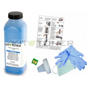 HP Q6001A - Kit de recharge toner compatible Cyan 124A