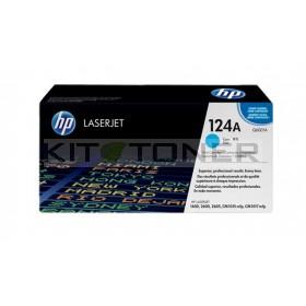 HP Q6001A - Cartouche de toner cyan de marque 124A
