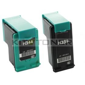 HP C8767EE, C8765EE - Pack de 2 cartouches encre compatible