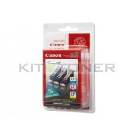 Canon 2934B007 - Pack de 3 cartouches d'encre origine cyan, jaune, magenta