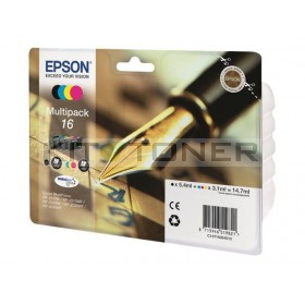 Epson C13T16264010 - Pack de 4 cartouches d'encre Epson T1626