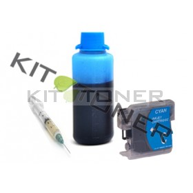 Brother LC980C - Kit cartouche rechargeable compatible cyan