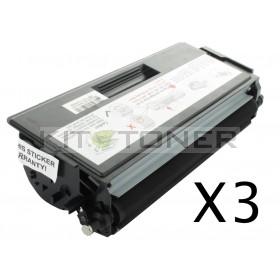 Brother TN6600 - Pack de 3 cartouches de toner compatibles