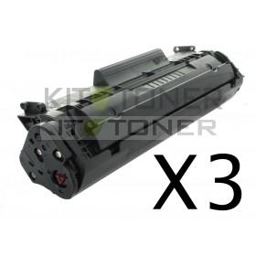Canon 7616A005 - Pack de 3 cartouches de toner compatibles 703
