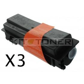 Epson S050437 - Pack de 3 cartouches de toner compatibles