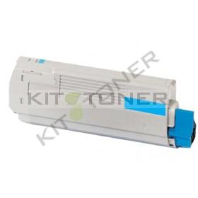 Oki 43865723 - Cartouche toner compatible Cyan