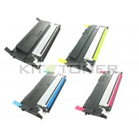 Samsung CLTY4072S, CLTC4072S, CLTK4072S, CLTM4072S - Pack de 4 cartouches remanufacturées