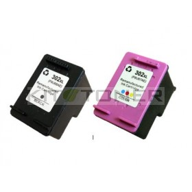 HP F6U68AE, F6U67AE - Pack de 2 cartouches d'encre compatibles 302 XL