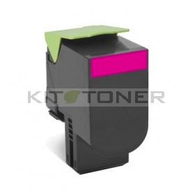 Lexmark 70C2HM0 - Cartouche toner compatible magenta