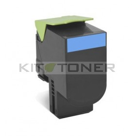 Lexmark 80C2SC0 - Cartouche toner compatible cyan
