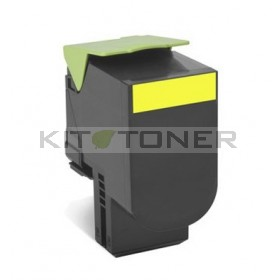 Lexmark 80C2SY0 - Cartouche toner compatible jaune