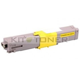 Oki 44469704 - Cartouche de toner compatible jaune