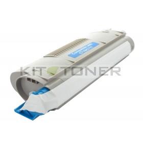 Oki 44318607 - Cartouche de toner compatible cyan