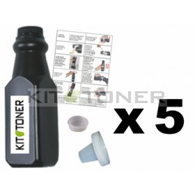 Brother TN6600 - Lot de 5 kits de recharge toner compatibles