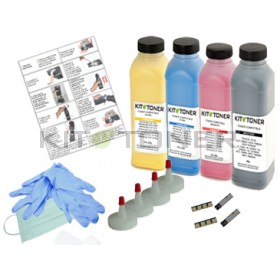 Dell 59310494 , 59310496 , 59310495 , 59310493  - Kit de recharge toner compatible 4 Couleurs