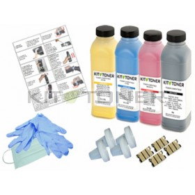 Dell 59311021, 59311019, 59311018, 59311140  - Kit de recharge toner compatible 4 Couleurs