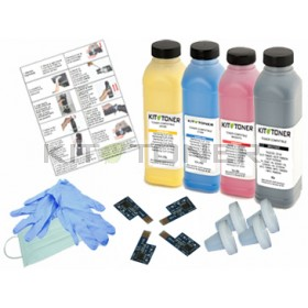 Dell 59310258 , 59310261, 59310260, 59310259 - Kit de recharge toner compatible 4 couleurs