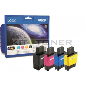 Brother LC900VALBP - Pack de 4 cartouches d'encre d'origine