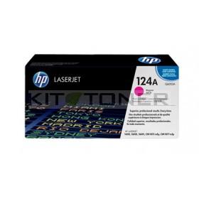 HP Q6003A - Cartouche de toner magenta de marque 124A
