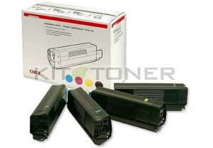Oki 42403002 - Pack de 4 toners d'origine 4 couleurs