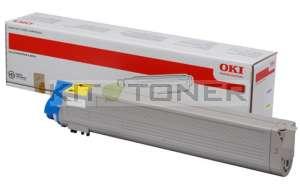 Oki 43837129 - Cartouche de toner jaune d'origine