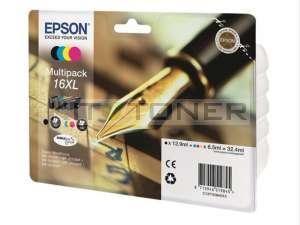 Epson C13T16364010 - Pack de 4 cartouches d'encre Epson T1636