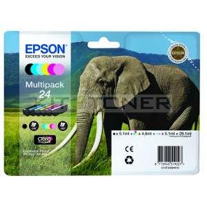Epson C13T24284010 - Pack de 6 cartouches d'encre Epson T2428