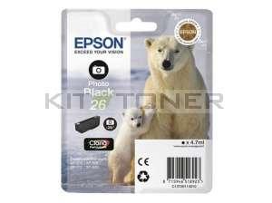 Epson C13T26114010 - Cartouche d'encre noire d'origine T2611