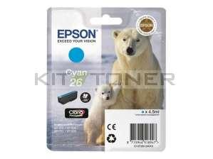 Epson C13T26124010 - Cartouche d'encre cyan d'origine T2612