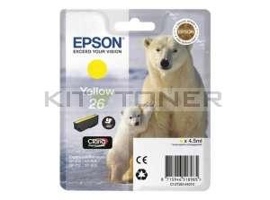 Epson C13T26144010 - Cartouche d'encre jaune d'origine T2614