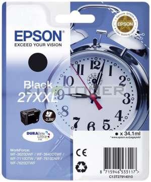 Epson C13T27914010 - Cartouche d'encre noire d'origine Epson 27XXL