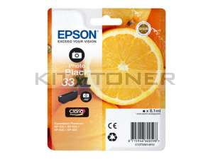 Epson C13T33614010 - Cartouche d'encre Photo Black 33XL d'origine
